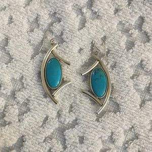 925 SS and Turquoise Earrings